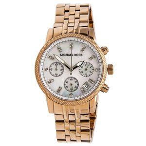 MK Rose Gold and Mother of Pearl watch